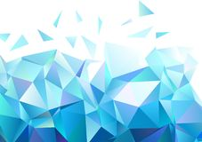 Abstract geometric shape background. Abstract diamond geometrical shapes in shades of blue and white with copy space Stock Images