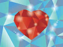 Abstract diamond heart. Illustration in eps10 Stock Photos