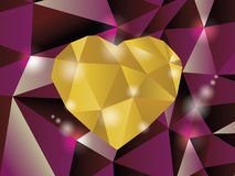 Abstract diamond heart. Illustration in eps10 Royalty Free Stock Photos