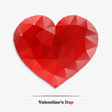 Abstract diamond heart. Valentine's day red diamond heart for your design Stock Images