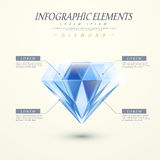 Abstract diamond infographics Stock Images