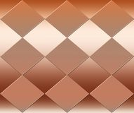 Abstract diamond pattern background in copper metallic stock images
