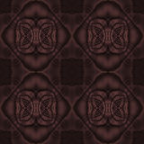 Abstract diamond pattern dark brown single color Stock Photography