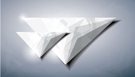 Abstract diamond triangle Stock Image