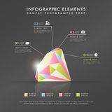 Abstract diamond theme infographics Royalty Free Stock Photography