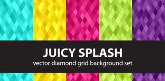 Abstract diamond vector seamless background set Juicy Splash Royalty Free Stock Photo