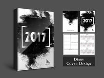 Abstract Diary Cover design. Creative Diary Cover design with abstract brush strokes for New Year, 2017 Royalty Free Stock Photography