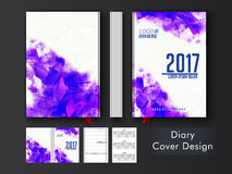 Abstract Diary Cover design. Abstract geometric design decorated, Diary Cover, Personal Organizer or Notebook template layout Stock Photos