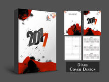 Abstract Diary Cover design. Abstract Diary Cover, Personal Organizer or Notebook template layout for the year 2017 Royalty Free Stock Photos