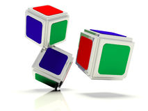 Abstract dice Stock Photography