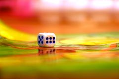 Abstract Dice. Background possible to use for printing and project Royalty Free Stock Photography