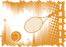 Abstract dichromatic tennis banner for red courts Royalty Free Stock Photography