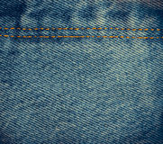 Abstract dicht omhooggaand denim Stock Foto