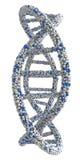Abstract die beeld van DNA-molecules in a worden verdraaid Stock Fotografie