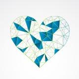 Abstract die hart op een witte achtergrond wordt geïsoleerd stock illustratie