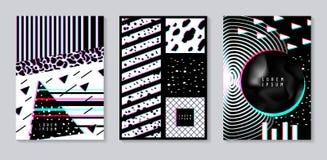 Abstract die Ontwerp met Glitch Effect wordt geplaatst In Malplaatjes Als achtergrond met Geometrische Vormen voor Affiches, Dekk royalty-vrije illustratie