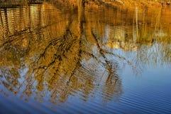 Abstract die patroon door de rimpelingen wordt gecreeerd Stock Foto