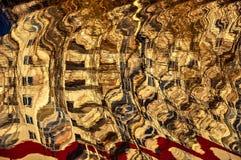 Abstract die patroon door de rimpelingen wordt gecreeerd Stock Fotografie