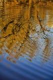 Abstract die patroon door de rimpelingen wordt gecreeerd Stock Foto's