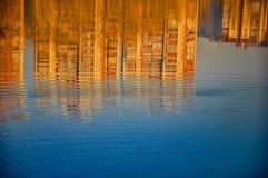 Abstract die patroon door de rimpelingen wordt gecreeerd Royalty-vrije Stock Foto