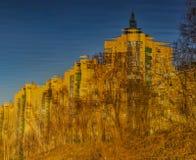 Abstract die patroon door de rimpelingen wordt gecreeerd Royalty-vrije Stock Afbeeldingen