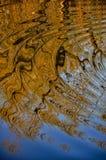 Abstract die patroon door de rimpelingen wordt gecreeerd Royalty-vrije Stock Fotografie