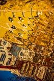 Abstract die patroon door de rimpelingen wordt gecreeerd Royalty-vrije Stock Foto's