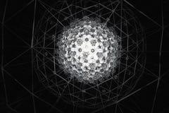 Abstract die patroon in Nick Moores Kaleidosphere wordt gefotografeerd. Royalty-vrije Stock Afbeeldingen