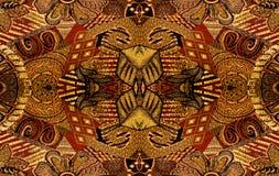 Abstract die patroon uit tapijtwerkstof wordt samengesteld stock fotografie