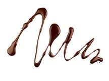 Abstract die patroon van chocolade op witte achtergrond wordt gemaakt Royalty-vrije Stock Fotografie