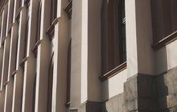 Abstract die patroon van de bouw van kolommen wordt gemaakt Royalty-vrije Stock Afbeelding