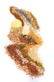 Abstract die patroon van eetbare zaden wordt gevormd Stock Fotografie