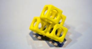 Abstract die voorwerp door 3d printerclose-up wordt gedrukt Royalty-vrije Stock Afbeelding