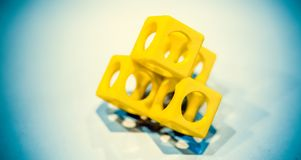 Abstract die voorwerp door 3d printerclose-up wordt gedrukt Royalty-vrije Stock Foto