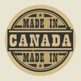 Abstract die zegel of etiket met tekst in Canada wordt gemaakt stock illustratie
