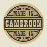 Abstract die zegel of etiket met tekst in Kameroen wordt gemaakt stock illustratie