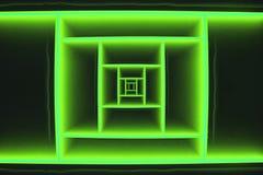 Abstract Diepte Groen Vierkant Stock Afbeeldingen