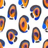 Abstract dierlijk druk naadloos patroon Hand geschilderde de huidtextuur van de waterverfjachtluipaard voor oppervlakteontwerp, t stock illustratie