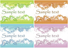 Abstract different grunge backgrounds. Illustration of the four different colour abstract backgrounds with the place for text vector illustration