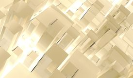 Abstract Different Size Glass Cubes Stock Image