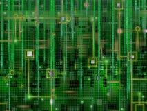 Abstract digitaal elektronisch ontwerp als achtergrond Stock Afbeelding