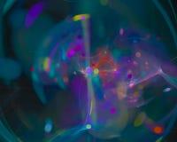 Abstract digitaal fractal magisch glanzend de vlamornament van het ornamentontwerp, machts creatieve werveling vector illustratie