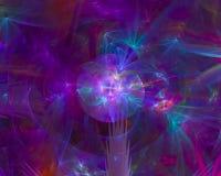 Abstract digitaal fractal magisch glanzend de vlamornament van de textuurelegantie, machts creatieve werveling vector illustratie