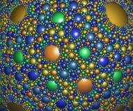 Abstract digitaal kunstwerk Fractal sferisch patroon stock illustratie