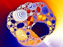 Abstract digitaal kunstwerk Patronen van Aard Juwelen en seashel vector illustratie
