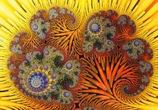 Abstract digitaal kunstwerk Patronen van Aard Magische shells stock foto