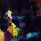 Abstract Digitaal Modern Art Background Stock Afbeeldingen