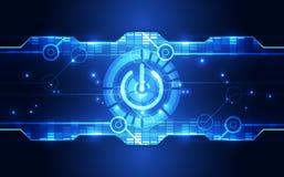 Abstract digitaal technologieconcept Het kan voor prestaties van het ontwerpwerk noodzakelijk zijn Stock Afbeelding