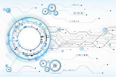Abstract digitaal technologieconcept High-tech computer Royalty-vrije Illustratie