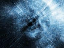 Abstract digitaal vaag 3d tunnelperspectief, Stock Afbeelding